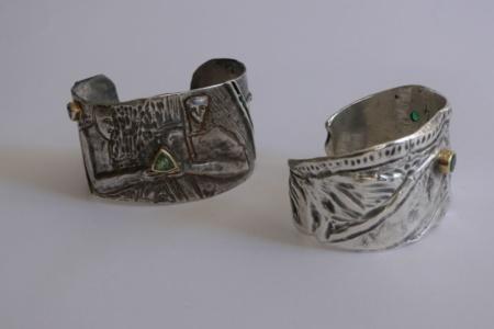 Armreif Paar aus Silber von Enzo Arduini