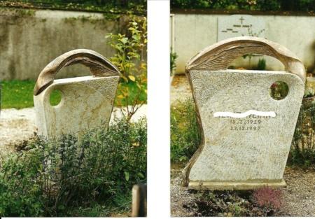Grabstein aus Marmor die Brücke von Enzo Arduini