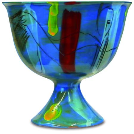 Kelch Keramik blau von Enzo Arduini