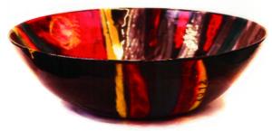 Keramikschale Dunkelrot von Enzo Arduini