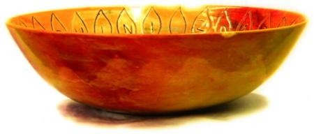 Keramikschale Gelbverziert von Enzo Arduini