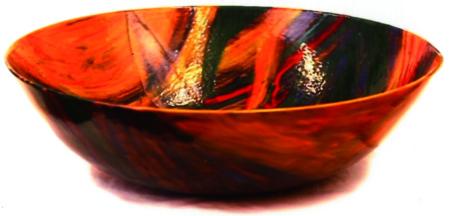 Keramikschale Orangerot von Enzo Arduini