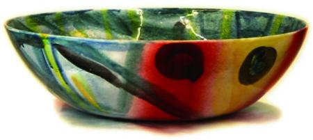 Keramikschale Tupfen von Enzo Arduini