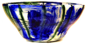 Porzellanschale Blauweiss von Enzo Arduini