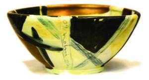 Porzellanschale Gold von Enzo Arduini