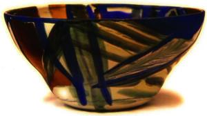 Schale Porzellan und Gold von Enzo Arduini