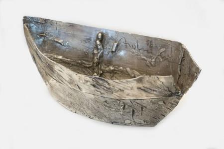 Skulptur aus Silber von Enzo Arduini