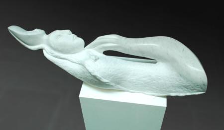 Skulptur Der Ewige Schlaf aus Marmor von Enzo Arduini