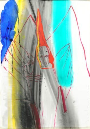 Bild Einhorn Mischtechnik von Enzo Arduini
